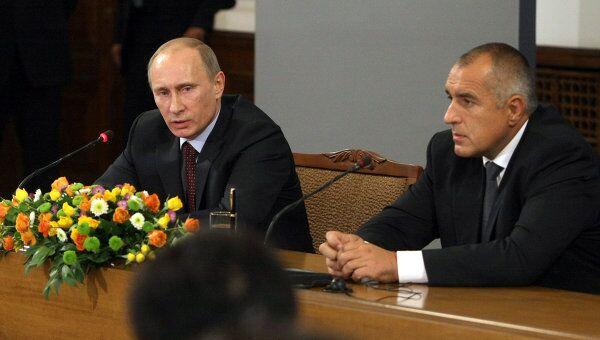 Пресс-конференция премьер-министров РФ и Болгарии Владимира Путина и Бойко Борисова