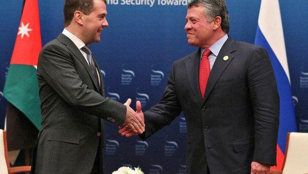 Президент РФ Д.Медведев встретился с королем Иордании Абдаллой II в Сеуле