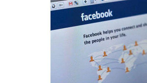 Страница социальной сети Фейсбук