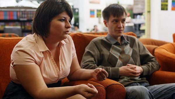 Организаторы проекта «Тотальный диктант» Ольга Ребковец и Егор Заикин