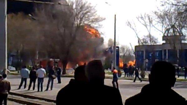 Пожар на АЗС в Ташкенте