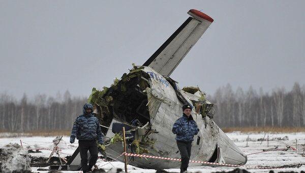 Ситуация на месте крушения самолета ATR-72 под Тюменью