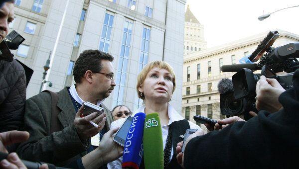 Алла Бут после вынесения приговора Виктору Буту