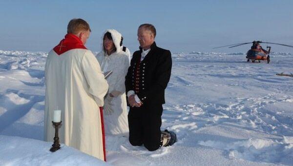 Венчание впервые прошло на Северном полюсе