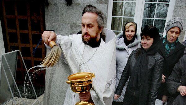 Освещение пасхальных куличей в регионах России