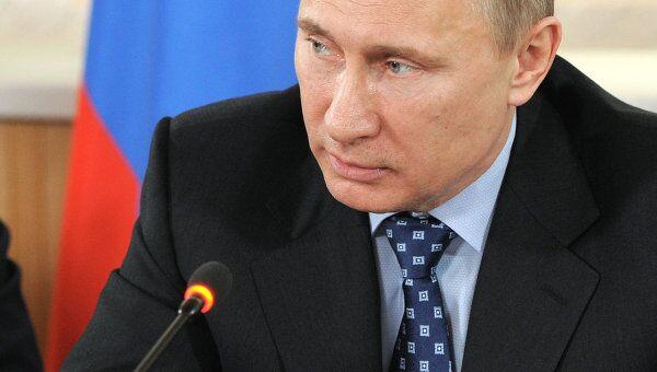 Премьер-министр РФ В.Путин провел совещание по жилищному строительству