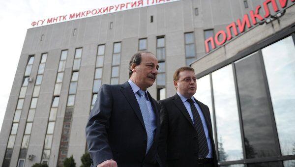 Христо Тахчиди в здании МНТК Микрохирургия глаза им. Федорова