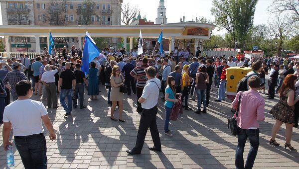 Митинг За честные выборы в Астрахани