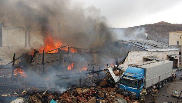 Пожар на складе пиротехники в Чите