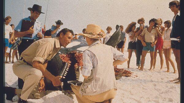 Фрагмент съемок фильма Челюсти (Jaws) 1975