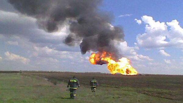 Взрыв на магистральном газопроводе под Саратовом