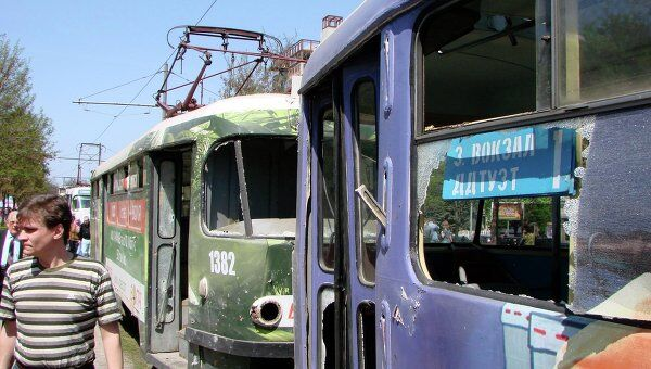 На месте взрыва в Днепропетровске