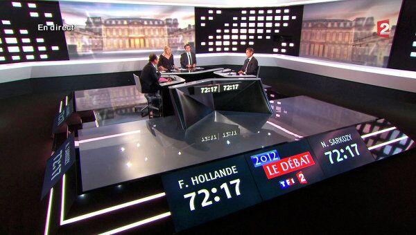 Дебаты Николя Саркози и Франсуа Олланда