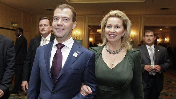 Дмитрий и Светлана Медведевы на приеме от имени премьер-министра Канады в честь глав государств и правительств G20