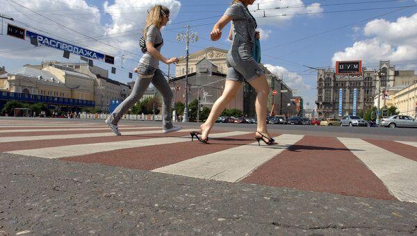 Красно-белые пешеходные переходы. Архив