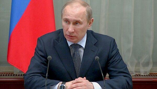Путин почтил минутой молчания память жертв теракта в Махачкале