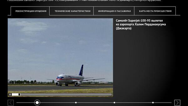 Крушение SuperJet-100 в Индонезии