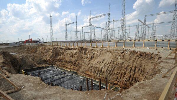 Начало строительства второго энергоблока Южноуральской ГРЭС-2. Архивное фото