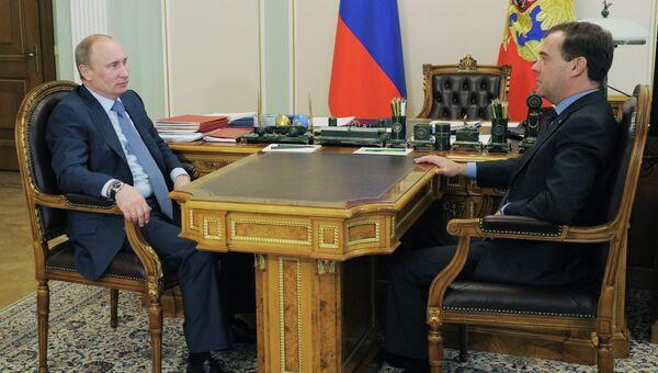 Владимир Путин и Дмитрий Медведев обсуждают формирование правительства и саммит G8