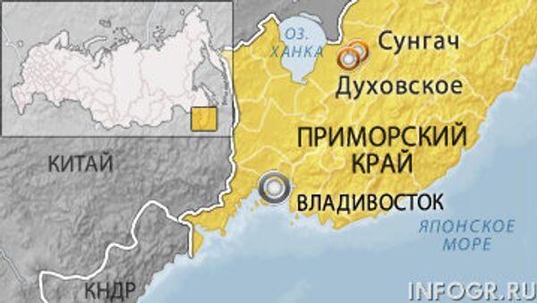 Склад боеприпасов горит в Приморье