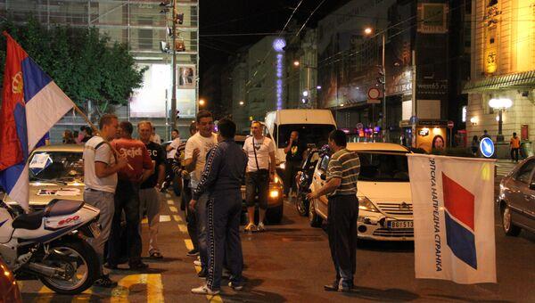 Сторонники Томислава Николича празднуют его победу на президентских выборах