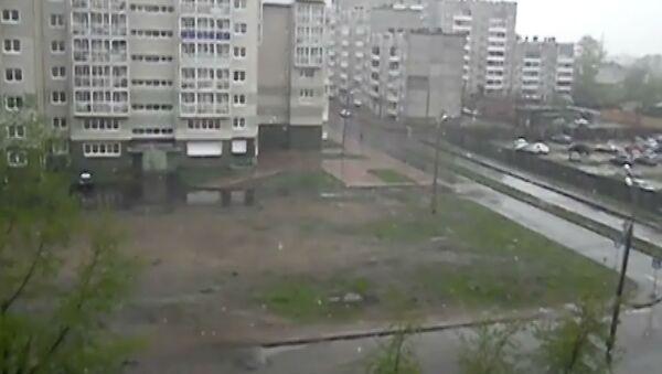 За пять дней до лета в Иркутске вновь пошел снег