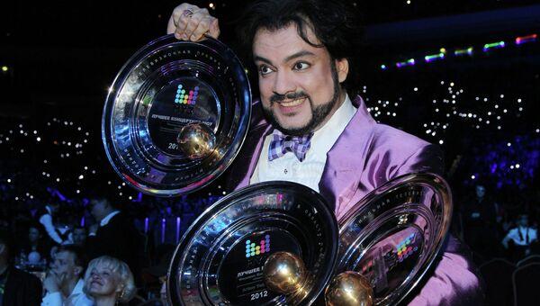 Певец Филипп Киркоров, получивший награды юбилейной премии МУЗ-ТВ 2012