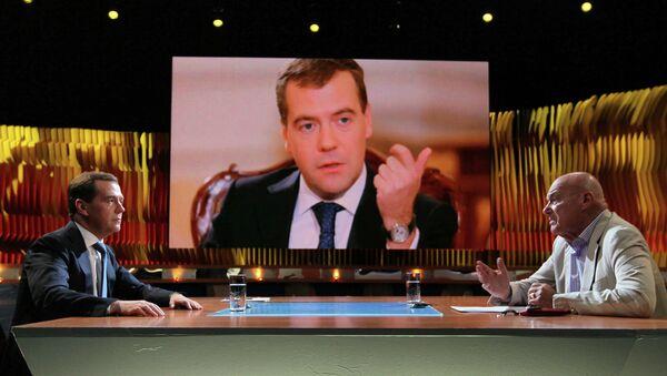 Д.Медведев принял участие в программе Первого канала Познер