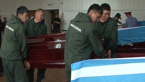 Похороны десантников, погибших при пожаре в Туве