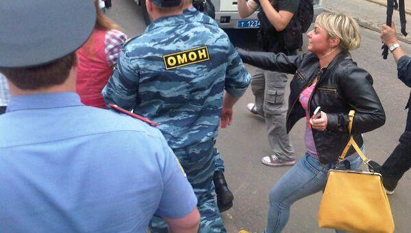 Задержания пикетчиков у СК РФ
