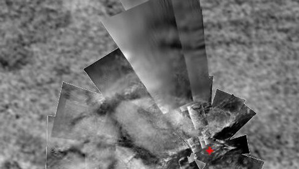 Участок поверхности Титана на экваторе. Снимки с зонда Кассини и спускаемого аппарата Гюйгенс
