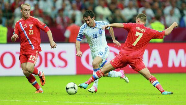 Футбол. Евро - 2012. Матч сборных Греции и России. Архивное фото