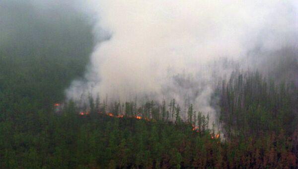 Лесной пожар в Якутии. Архив