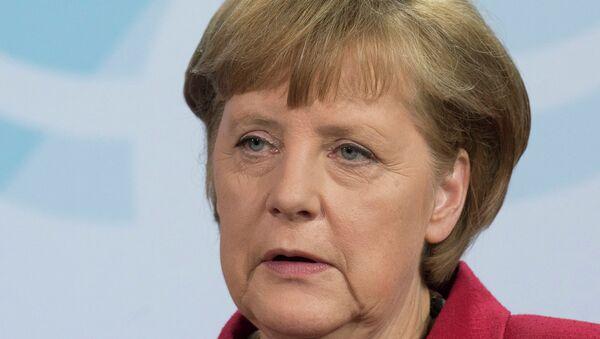 Федеральный канцлер Федеративной Республики Германия Ангела Меркель. Архив