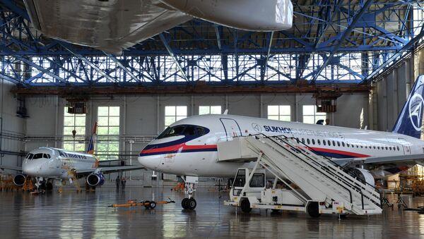 Cамолет Sukhoi Superjet 100. Архивное фото