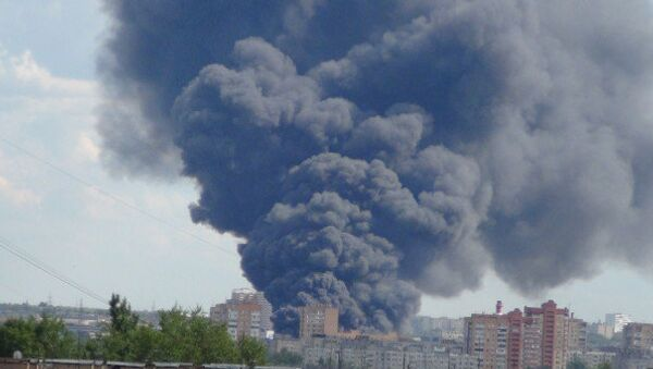 Пожар в Подольске
