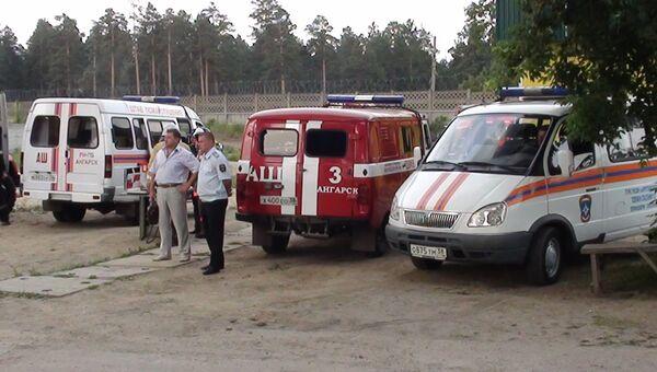 На месте пожара на нефтехранилище в Ангарске