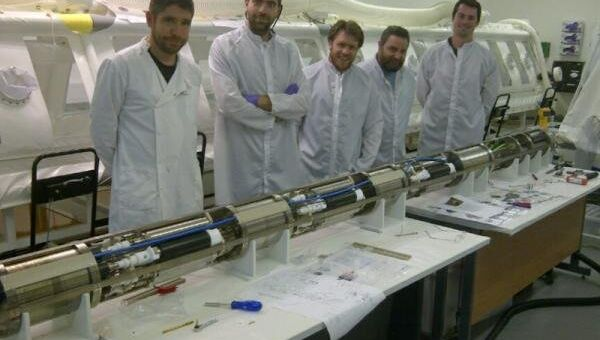 Щуп для отбора проб из подледного озера Эллсуорт в Антарктиде