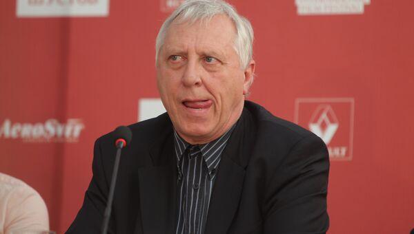 Питер Гринуэй на пресс-конференции на Одесском международном кинофестивале