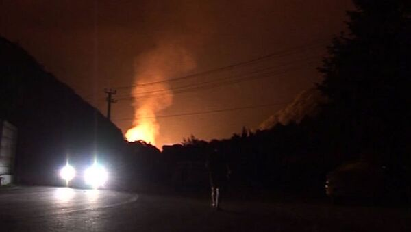 Гигантский столб огня поднялся при аварии на газопроводе в Сочи