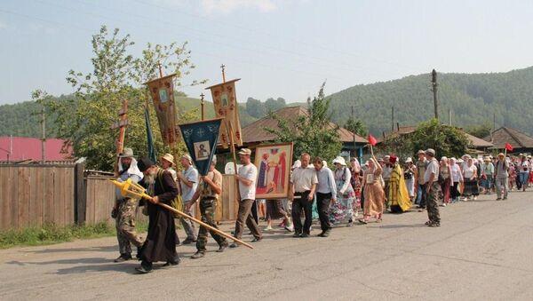 Крестный ход в Горном Алтае