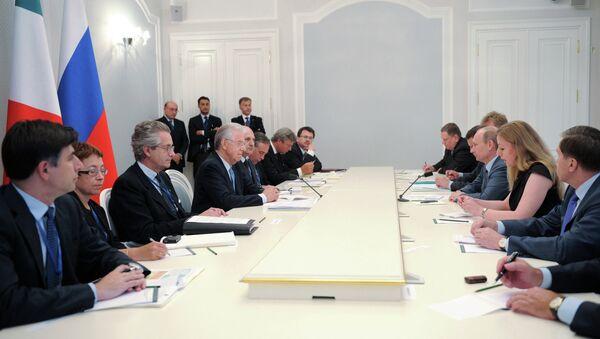 Встреча В.Путина и М.Монти в Сочи