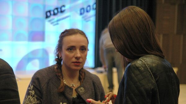 Тутта Ларсен на показе документального фильма Моника и Дэвид