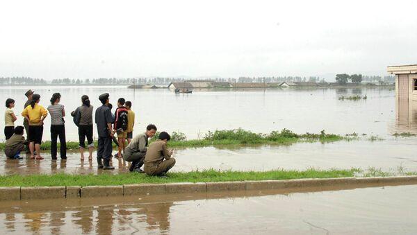 Последствия наводнения в Северной Корее. Архивное фото
