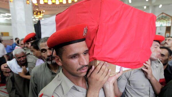 Прощание с военными, погибшими при атаке КПП в Египте