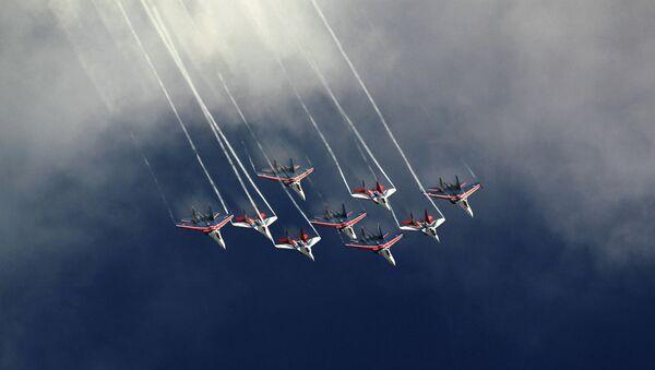 Генеральная репетиция экипажей ВВС к празднику Общее небо