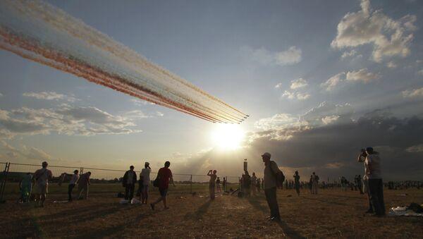Генеральная репетиция экипажей ВВС к празднику
