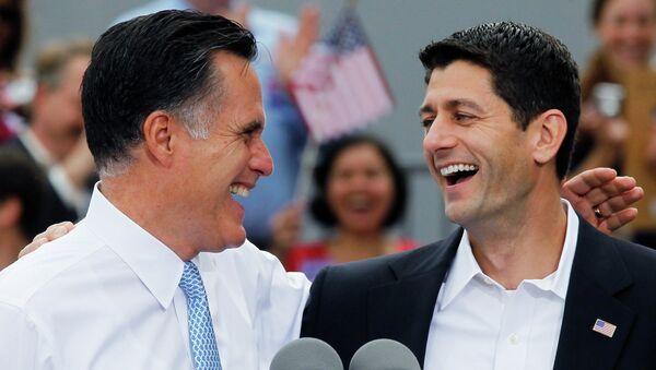 Кандидат в президенты США Митт Ромни и кандидат в вице-президенты Пол Райан