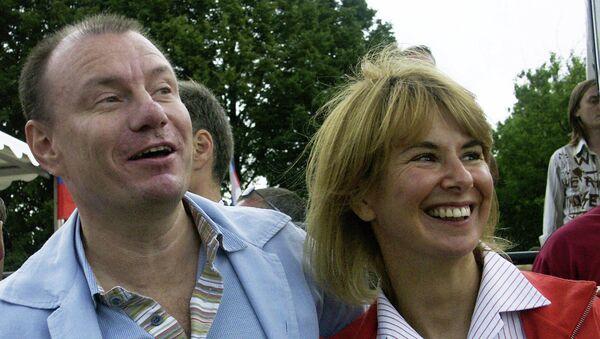 Владимир Потанин с женой Наталией. Архивное фото