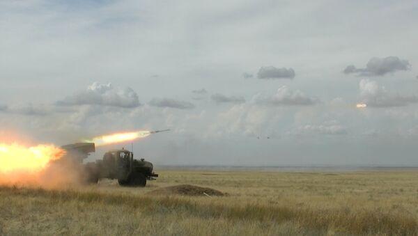 Стрельбы новых систем залпового огня Торнадо-Г. Кадры с полигона